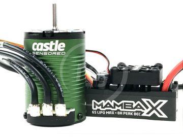 Castle motor 1410 3800ot/V senzored s reg. Mamba X SCT PRO