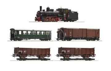 31032 - 5 piece train set: Steam locomotive 399.06 with mixed passenger train, ÖBB