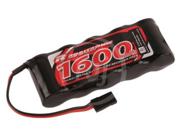 Robitronic NiMH baterie 6.0V 1600mAh plochá RX